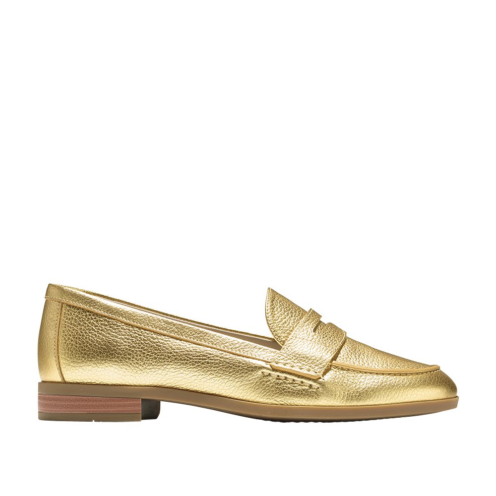 Cole Haan Women's Pinch Grand Penny Loafer 6.5 Gold Metallic by Cole Haan