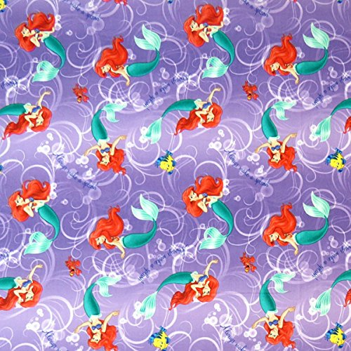 SheetWorld Extra Deep Fitted Portable / Mini Crib Sheet - Little Mermaid - Made In USA