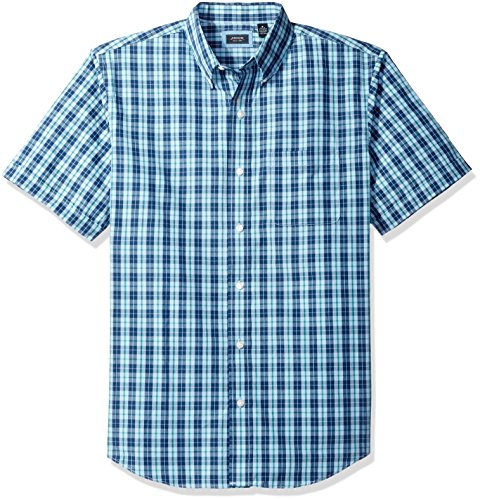 Arrow Men's Short Sleeve Hamilton Poplin Shirt, Yacht Navy, Small