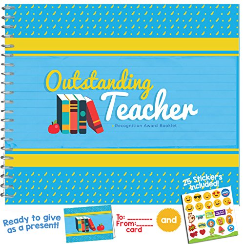 [OUTSTANDING TEACHER - Personalised and Funny Recognition Award Booklet for the Most Awesome Professor Ever! Perfect Gift Ideas for High School or University] (Funny Award Ideas)