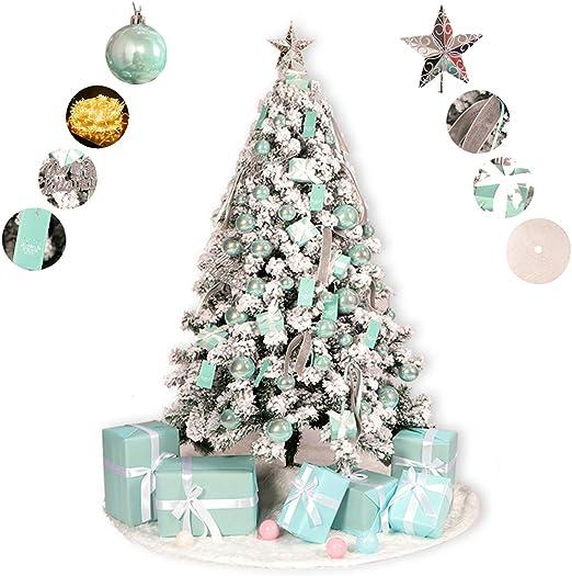 DMGF Árbol De Navidad Árbol De Navidad con Nieve Artificial, con ...