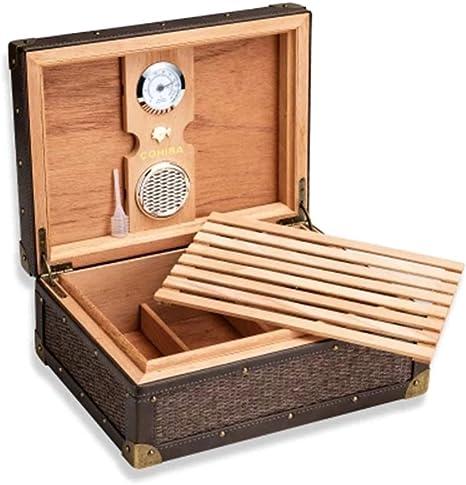 Caja De Cigarro De Madera De Cedro Gran Capacidad Humectante Caja ...