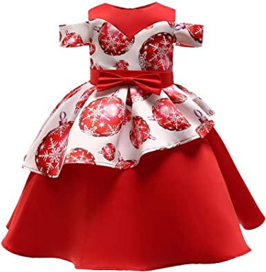 DAYLIN Niña Vestidos de Noche, Bebé Infantil Moda Impresión ...