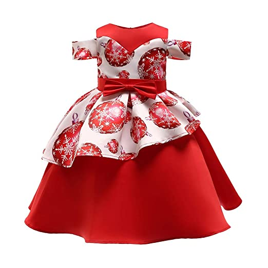 a1a567cb53a Amazon.com  Christmas Dress for Toddler Kids Baby Girls