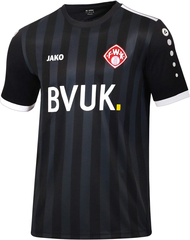 Jako Fu/ßball W/ürzburger Kickers 3rd Trikot 2018 2019 Herren Ausweichtrikot Kurzarm Schwarz wei/ß