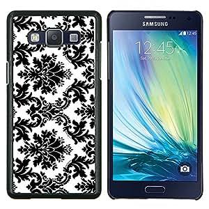 Stuss Case / Funda Carcasa protectora - Blanco negro con clase elegante - Samsung Galaxy A5 ( A5000 ) 2014 Version