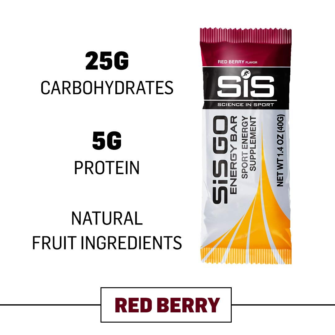 Science in Sport Go Energy bar   Red Berry Flavor - Carbohydrate Endurance Snack Bars - 20 Pack (40g) by Science in Sport
