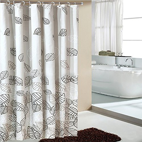 Tentotwelve Mildew Free Water Repellent Fall Leaves Shower Curtain 72 Inch