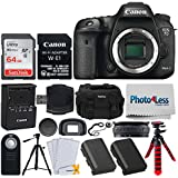 Canon EOS 7D Mark II DSLR Camera Body with W-E1 Wi-Fi Adapter + 64GB Memory Card + Wireless Remote + Photo4Less DC59 Gadget Bag + Quality Tripod + Battery Replacement + Flexible Tripod + Accessories