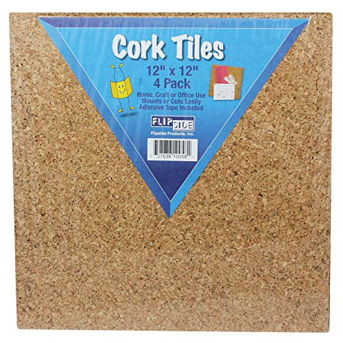Flipside FLP10058 Cork Tiles, 12