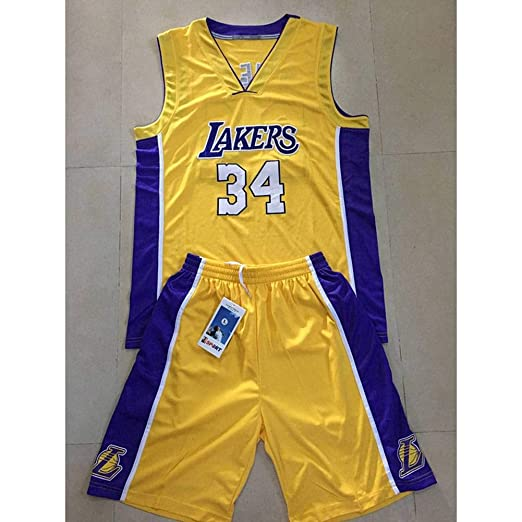 CYY NBA Basketball Jersey Nueva Temporada Lakers #34, Lakers ...