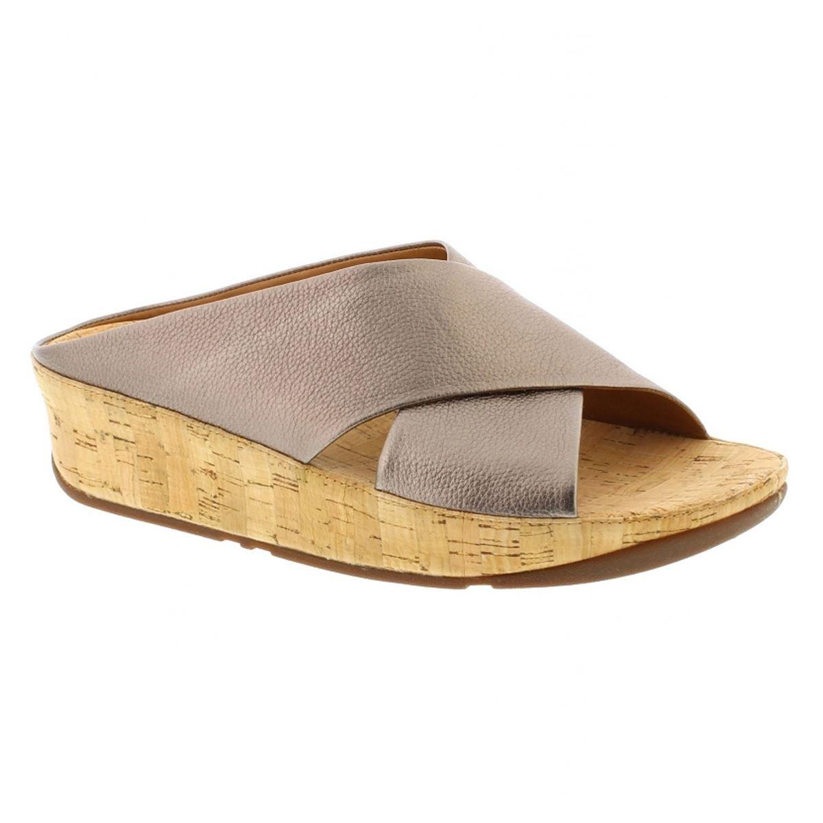 Fitflop Womens KYS Slide Open Toe Sandal Shoes, Bronze, US 8.5