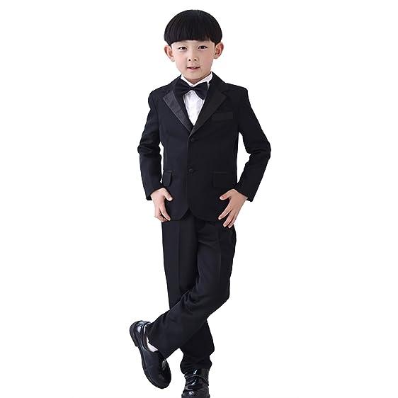 Amazon.com: 7 Pcs Boys Formal Blazer Children Tuxedo Shirt Vest ...