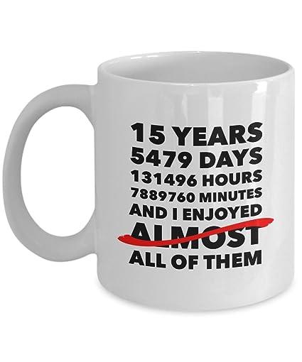 Funny 15th Anniversary Mug Crystal Wedding Day 15 Years Birthday Gift Idea For Him