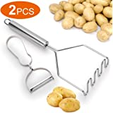 Potato Masher Stainless-Steel, Professional Potatoes Ricer, Special Tools and Dishwasher Safe, Mash Food, ZOAN Company