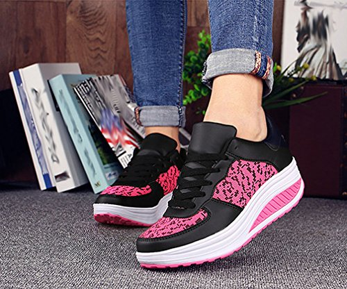 Compensées Fitness Baskets de Chaussures Sneakers Gym sur Léger Respirante Running Route Chaussures Femme O6qawWF5A5