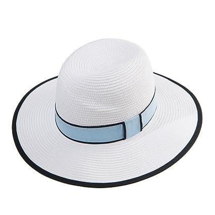 22c9ac1502aa3 Sombreros Sombrero de Visera de Verano para Hombres y Mujeres Sombrero de  Paja de Panamá Plegable