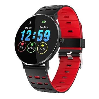 OSYARD Montre Connectée L6 1.22Inch Couleur Plein ÉCran ÉTanche Moniteur de FréQuence Cardiaque Etanche Smart Watch: Amazon.fr: Montres