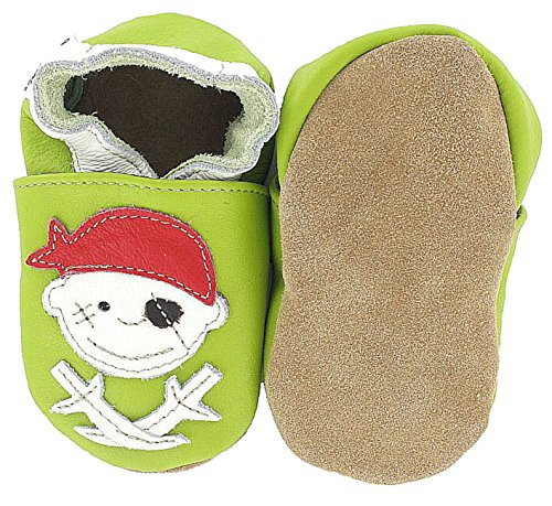 HOBEATractor - Zapatos de Bebé para bebés, unisex Pirat Jack grün