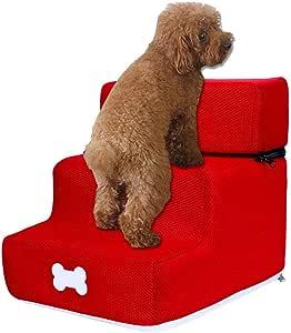 Escalera para perro, gato, 3 peldaños para escaleras de animales, escalera para perros, escaleras extraíbles, con tres niveles, escaleras extraíbles y lavables, para perros, estilo multicolor J: Amazon.es: Hogar