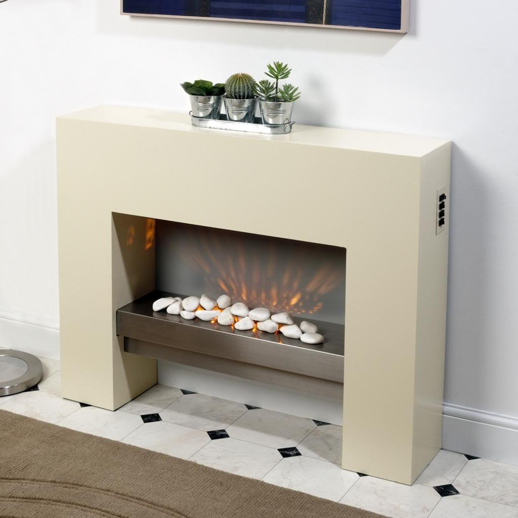Free Standing Electric Fire MDF Creme Surround Fireplace Flicker Living  Flame: Amazon.co.uk: DIY U0026 Tools