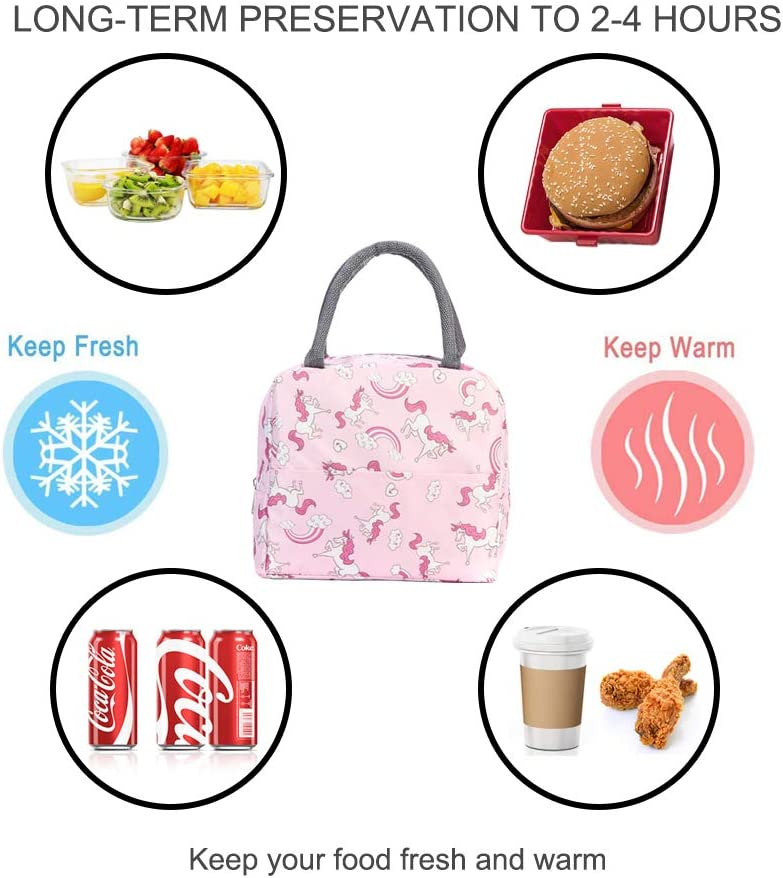 Rlloy Bolsa de Almuerzo Bolsa de Almuerzo Impermeable para Mujeres Almacenamiento port/átil Aislado Bento Bag Cooler//Picnic t/érmico Bolsa de Almuerzo para el Trabajo Picnic Escolar