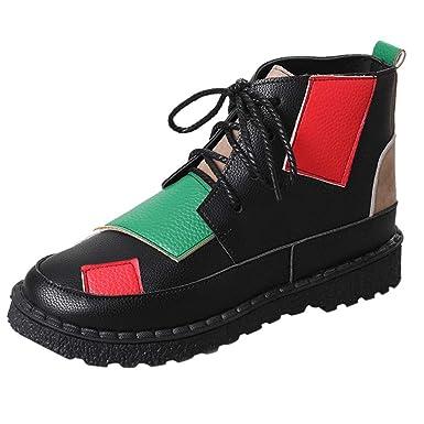 Damen Freizeitschuhe Plateau Sneaker Neu Mode Boots Frauen
