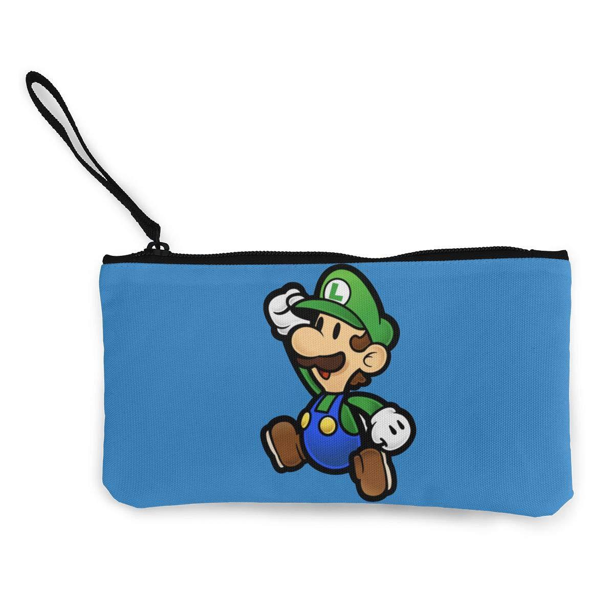 Super Mario Green Mushroom Monedero de Lona Lindo y liviano ...