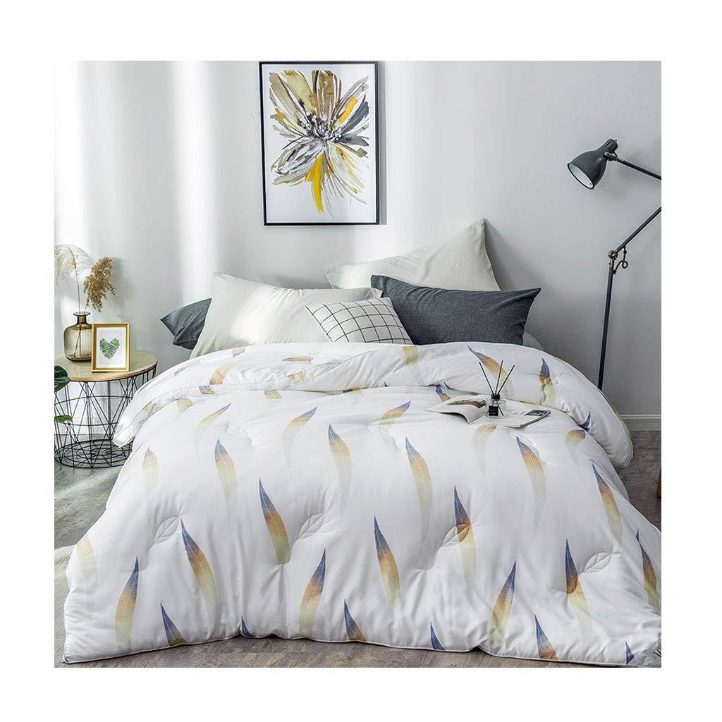 ファッションシンプルな秋と冬のダブル厚く柔らかい保温綿キルトコア寝室ホステルベッドライニング (色 : 白, サイズ さいず : 220×240cm(2.9kg)) B07MHWML3D 白 220×240cm(2.9kg)