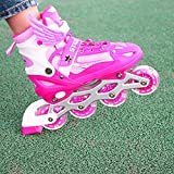 ZALALOVA Kids Adjustable Inline Skates, Safe and