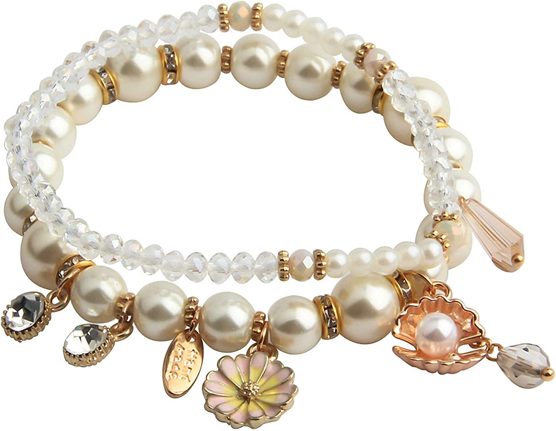 Crystal Pearl Bra PLITI Bridesmaid Jewelry Sister Pearl Bracelet Maid of Honor Jewelry Gift