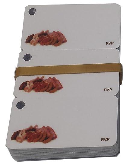 16x3 Tarjetas PVC Porta Precios CARNICERIA: Amazon.es ...