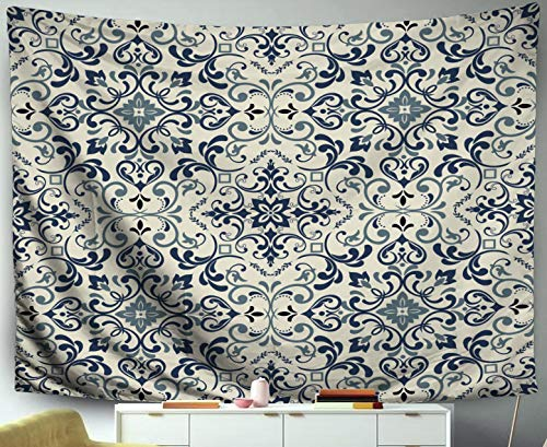 Roca Ceramic Tile - Tapestry Wall Hangings,Jacrane Art Tapestries With 60X50 Inches Damask Pattern Pattern Can Be Used Ceramic Tile Wallpaper Linoleum Web Page Background For Dorm Bedroom Living Home Decor