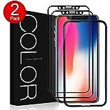 [2 paquetes]Protector Pantalla iPhone X,[Cobertura Completa],Cristal Vidrio Templado de 3D,G-Color Protector de Pantalla para iPhone X/iPhone 10