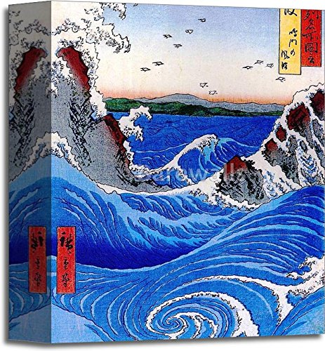 Naruto Whirlpools, Awa Province, From The Series Views Of Famous Places In The Sixty-Odd Provinces by Utagawa Hiroshige Gallery Wrapped Canvas Art (10in. x 8in.)