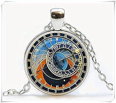 Reloj colgante Collar de reloj de la astrología astronomía joyas: Amazon.es: Joyería