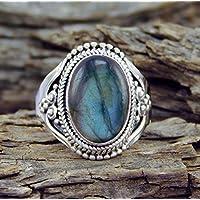 Siam panva Fashion 925 Silver Rainbow Moonstone Ring Wedding Engagement Jewelry New Sz 6-10 (9)