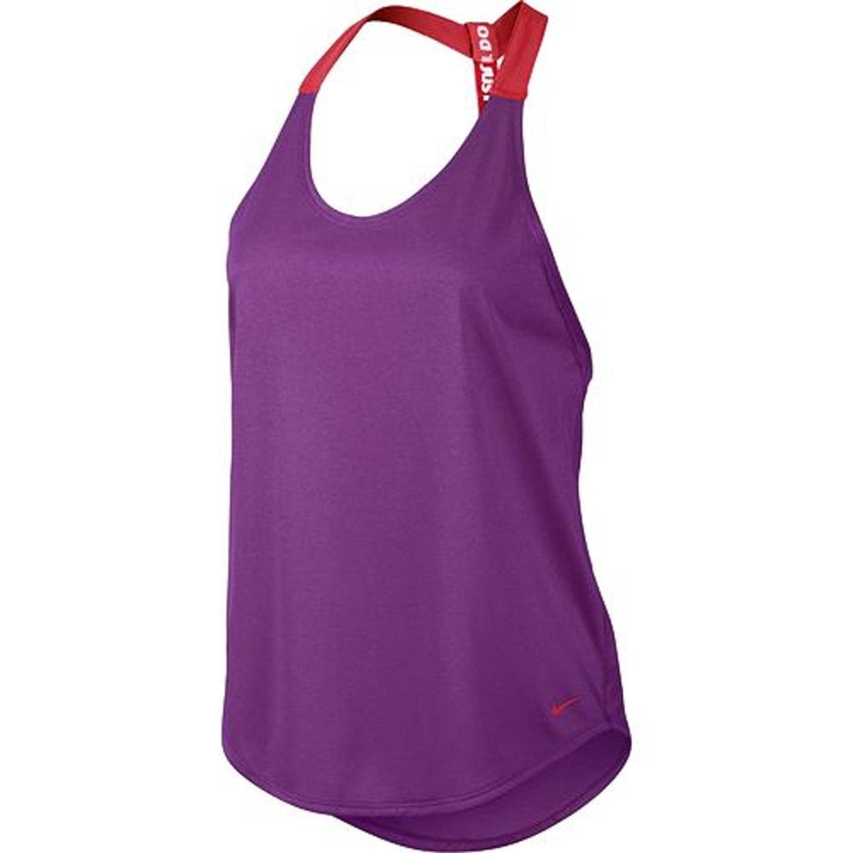 Nike SHIRT レディース B01MTCUHKY Large|Purple/Red Purple/Red Large
