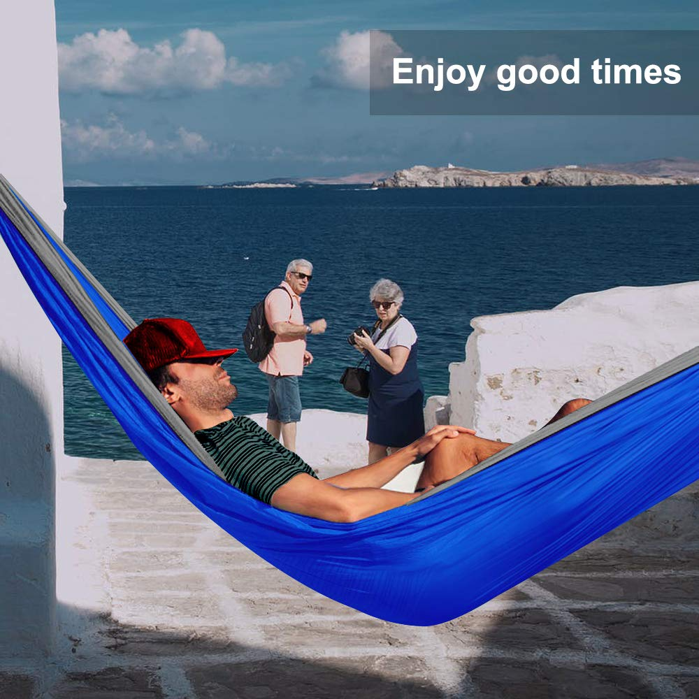 RGOSIM STARCS Comfortable Hammock Outdoor Double Adult Indoor Sleeping Leisure Camping Portable Swing Single Parachute Chair Lazy Nylon Fabric