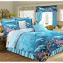 PDK Dolphin Cove Bed in the Bag Comforter Set, Twin
