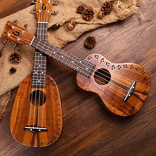 Koa acacia top solid 21 inch pineapple ukulele with Gig bag Molokai