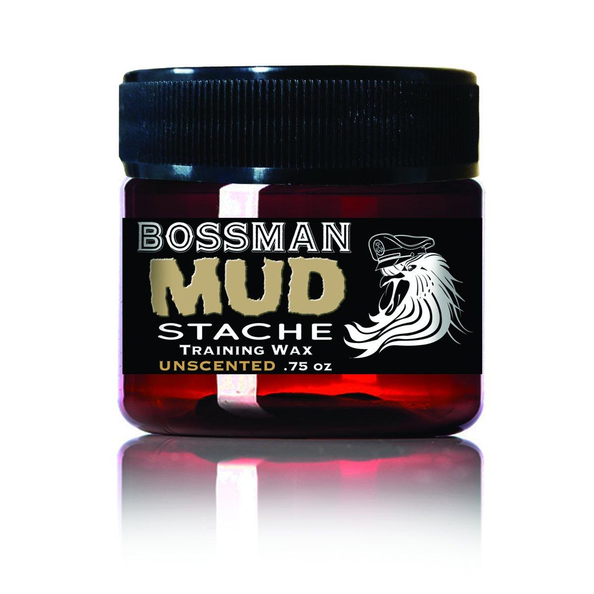 Bossman MUDstache NAKED - NO Color Tint NO Scent Mustache Training Wax - .75 oz