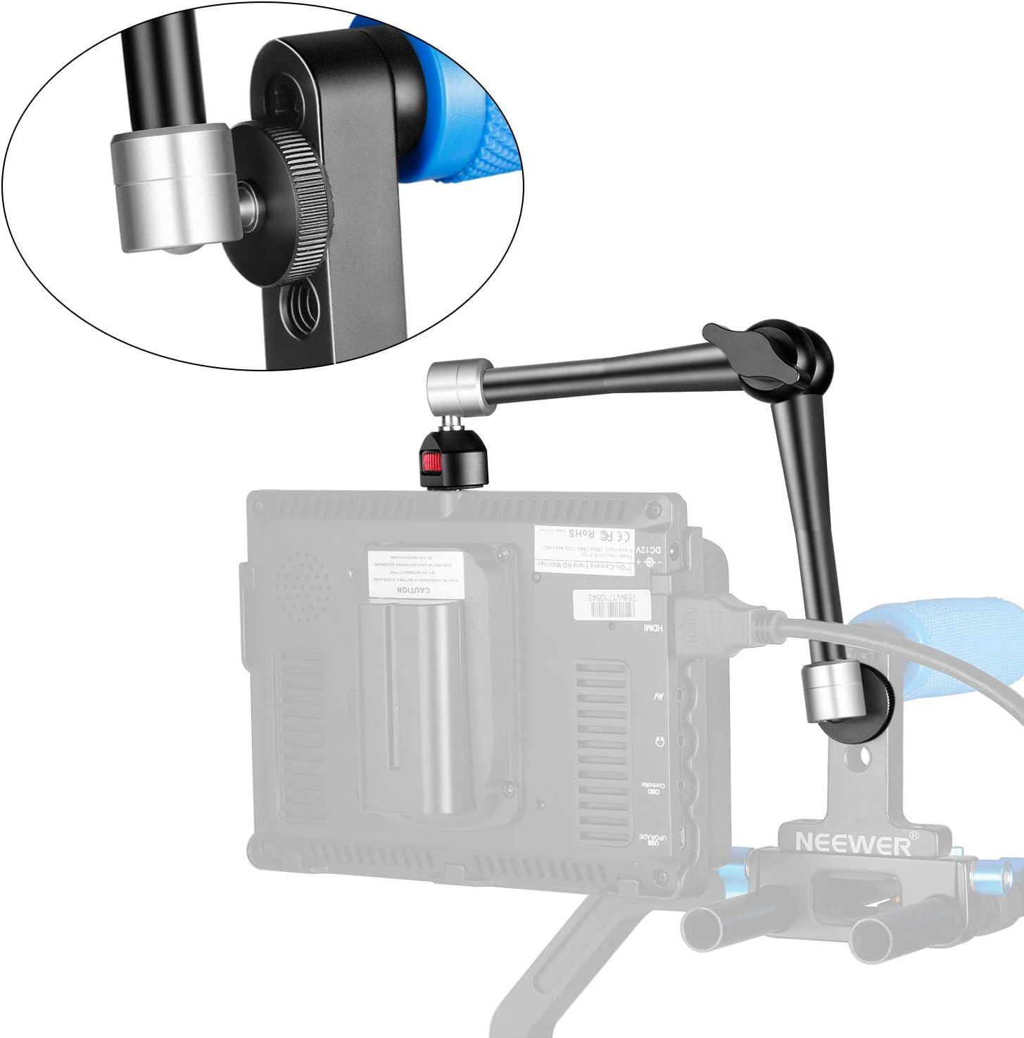 Neewer Kameraarm Artikulieren Magic Arm Stativ 7 Zoll//3-Arm