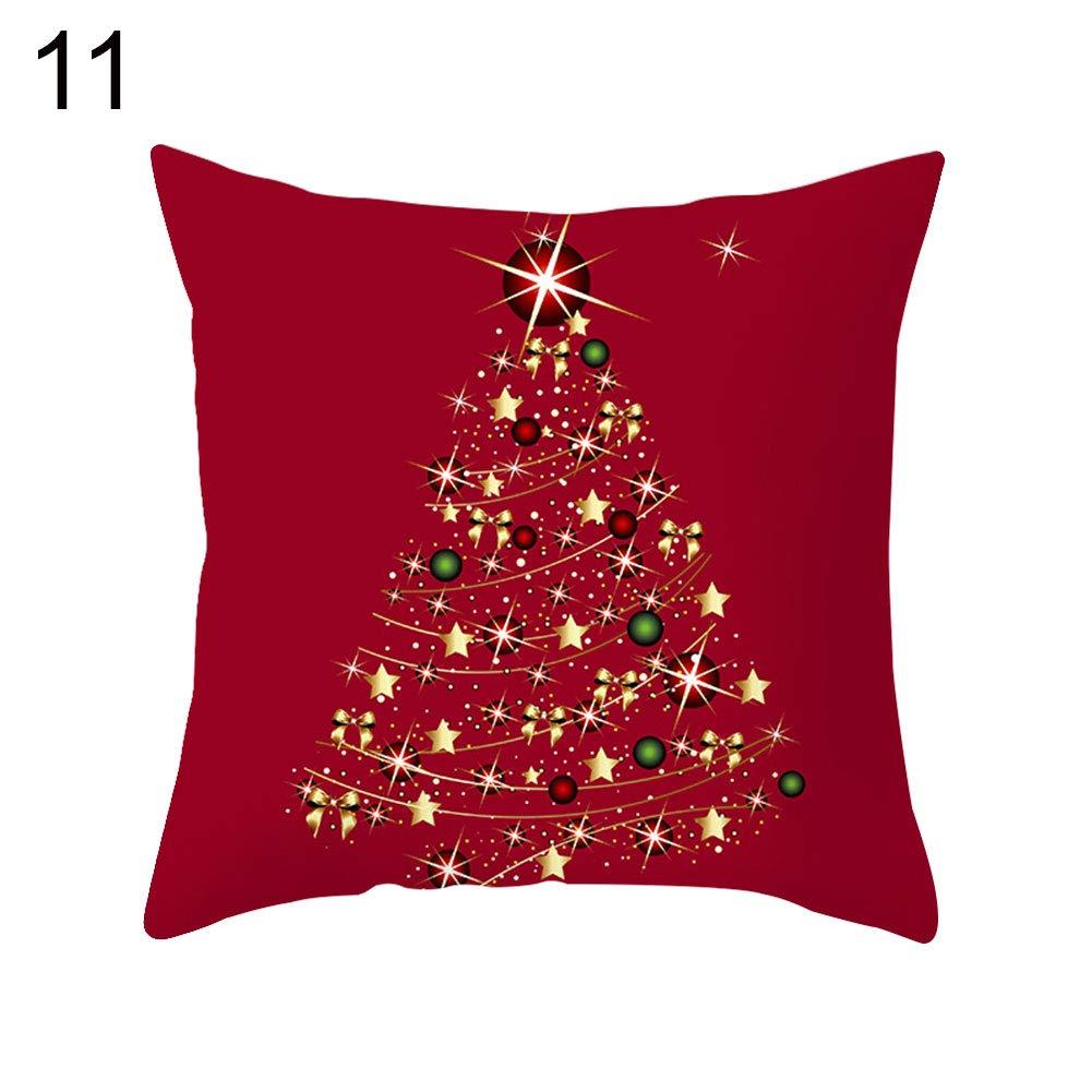 quanjucheer Merry Christmas - Funda de cojín con diseño de ...