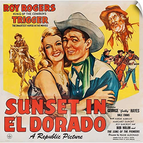 CANVAS ON DEMAND Sunset in El Dorado - Vintage Movie Poster, 1945