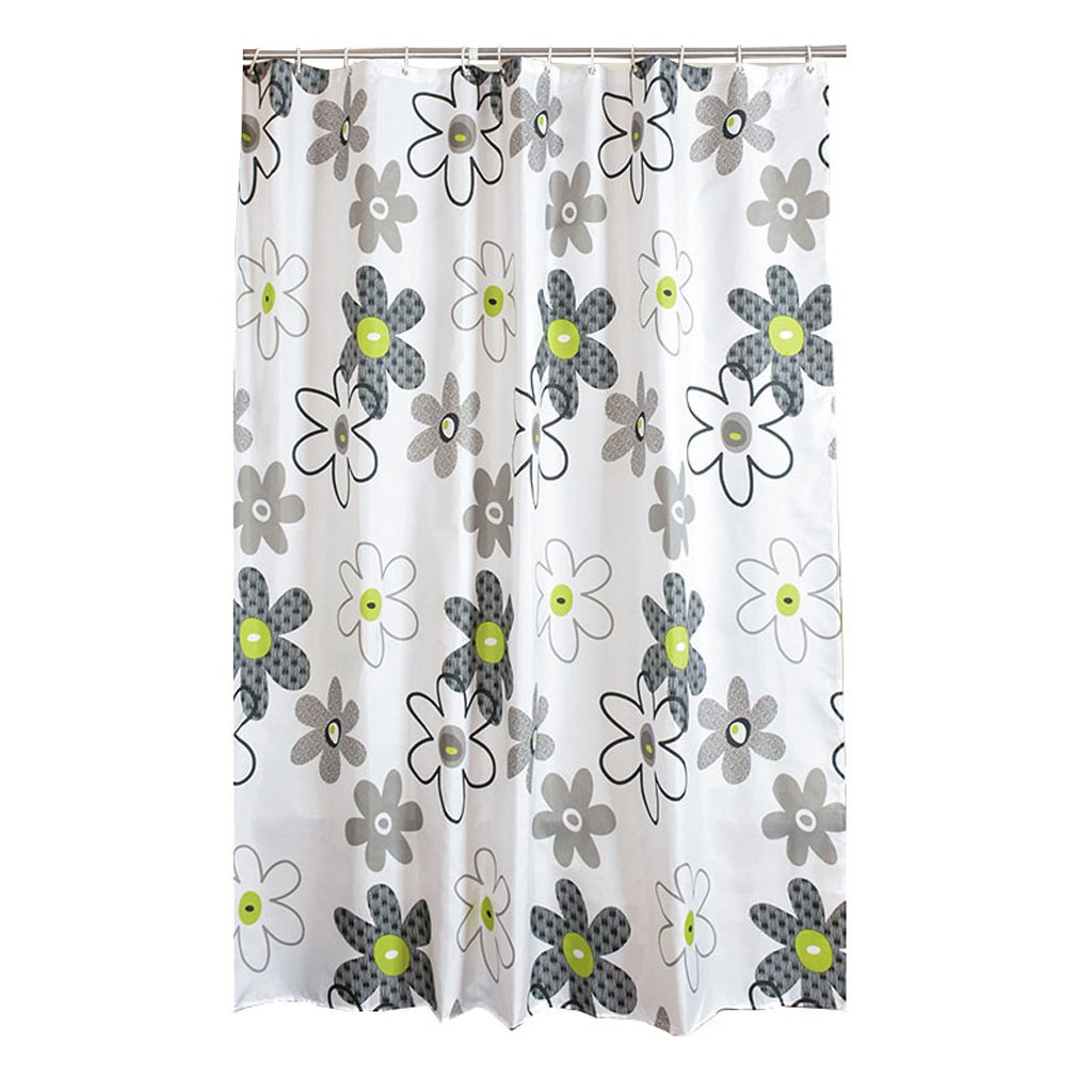 Curtain Bathroom Shower Curtain, Thick Polyester Cloth Shower Curtain, Mildew Waterproof Bathroom Curtains, Send Hanging Ring Shower Equipment (Size : 150180cm)