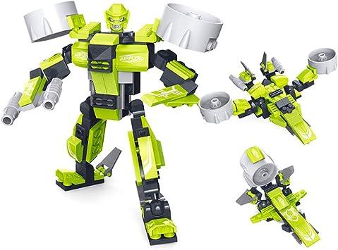3 tipos de modelos de robots de deformación, robots de deformación de bloques de construcción, juguetes educativos de montaje de bricolaje - juguetes de robot, juguetes educativos para niños, juguetes: Amazon.es: Hogar