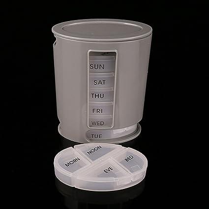 ebilun Mini Portable pillpro píldora vitamina medicinal Tablette funda Memoria Organizador Viaje Vitamina Medicina Píldora Caja