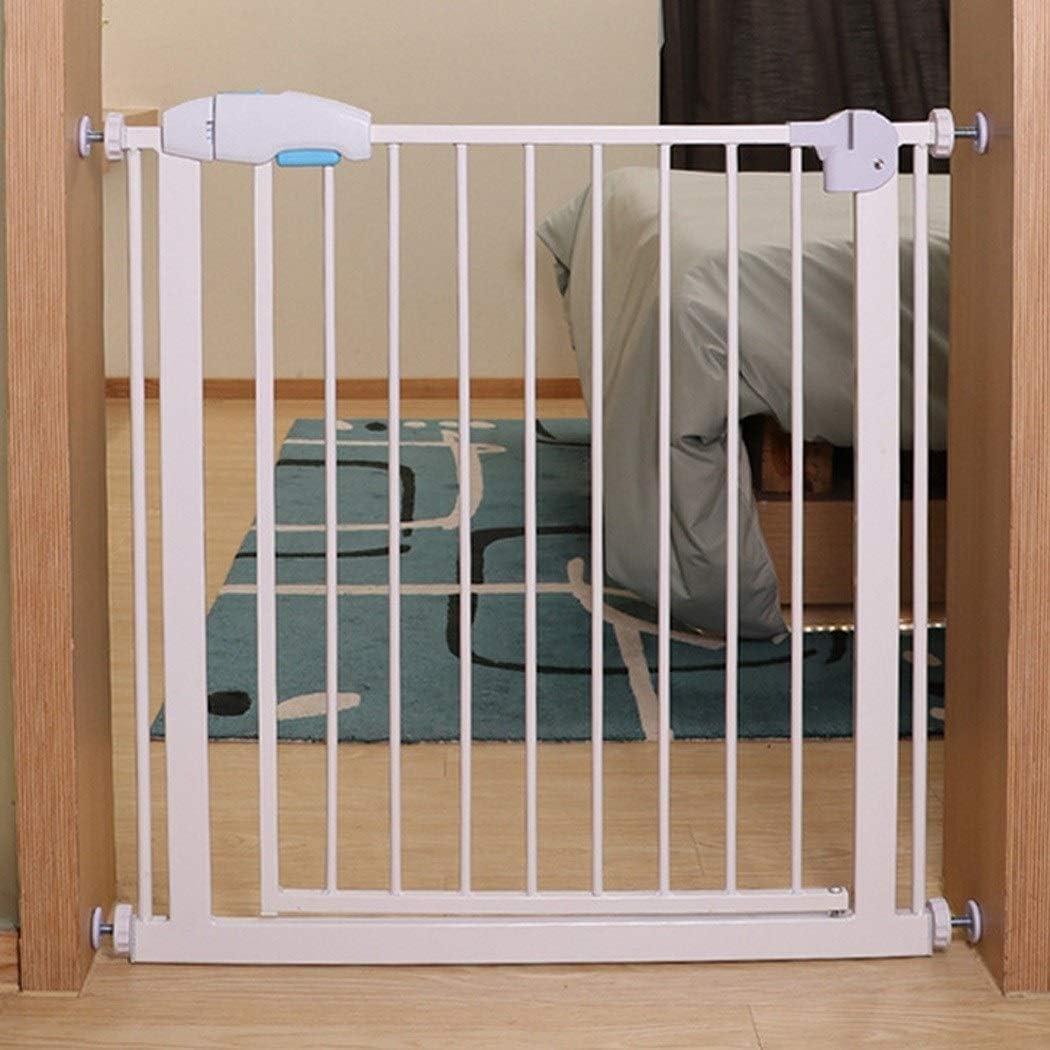 HONGAN Puerta De Bebé Escalera Barandilla Puerta De Seguridad For Niños Perforación Gratuita Portones For Bebés Cerca Extra Ancha For Mascotas Cerradura Doble Cierre Automático: Amazon.es: Hogar