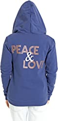 5bdc6ae023303 VIVILISH WOMEN ROSE GOLD PEACE & LOVE WARM ZIP-UP HOODIE - DESIGNED IN LOS